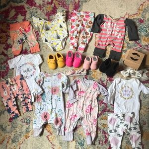 NEWBORN lot! Rags to Raches and other brand
